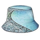 TTLUCKY Sombrero de Pesca,Vectores de Fondo Azul y Curva de Graphicriver,Senderismo para Hombres y Mujeres al Aire Libre Sombrero de Cubo Sombrero para el Sol