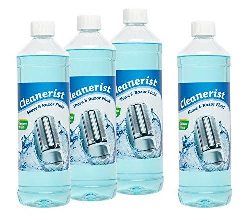 Cleanerist Scherkopfreiniger zum Nachfüllen geeignet für die Rasierer von Braun Clean & Renew Synchro Activator und Pulsonic Series 3/5/7/8/9, 4x1 Liter