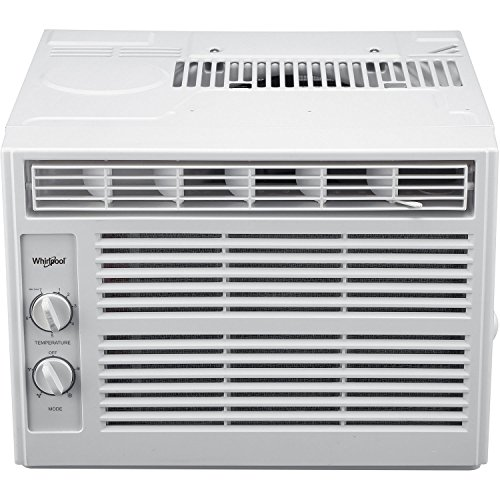 Whirlpool 5,000 BTU 115V Window-Mounted Air Conditioner with Mechanical Controls White