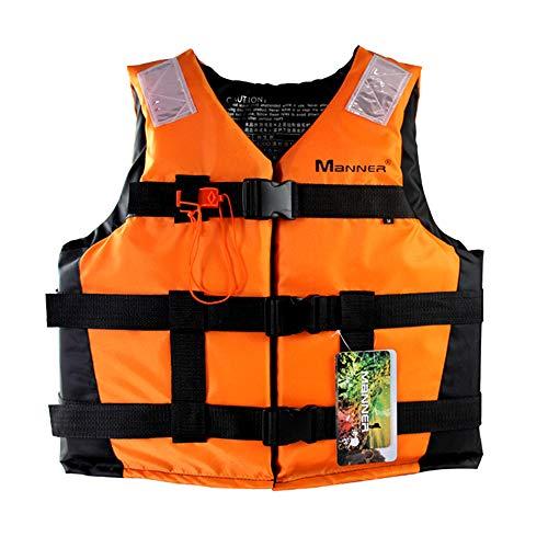 Treeleaff - Chaleco salvavidas para exteriores, chaleco salvavidas para adultos, chaleco de natación para pesca, surf, buceo, rafting, buceo, rescate, barcos a la deriva de 40 a 90 kg
