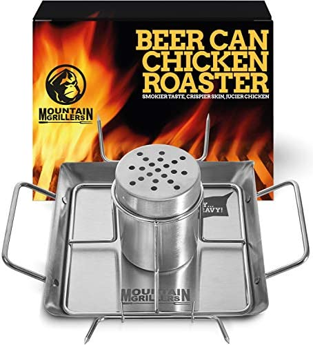 Beer Can Chicken Roaster Stand Stainless Steel Holder Barbecue Rack for The Grill Oven or Smoker product image