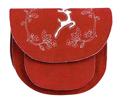 Alpin-Trachten Trachtentasche Damentasche Schultertasche Dirndl Tasche mit Stickerei Rot