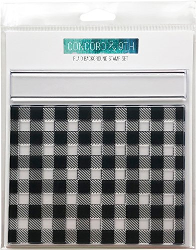Concord & 9th Plaid Background Clear Stamps 6'X6'