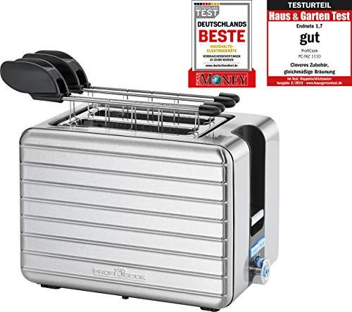 ProfiCook PC-TAZ 1110 Toaster Zangentoaster, 18/8 Edelstahl, Inox