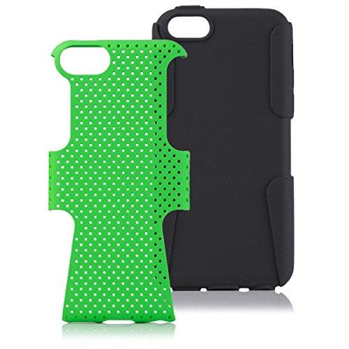 Apple iPhone 5C | iCues 2 Caso Air Parte Verde | Caso duro al Air libre grueso a prueba de golpes militares Lifeproof hombres, niños piel protectora de protección [protector de pantalla, incluyendo] Cubierta Cubierta Funda Carcasa Bolsa Cover Case