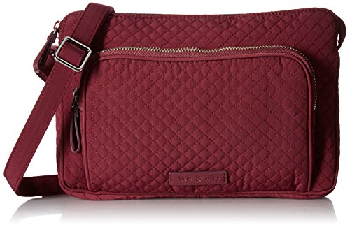 Vera Bradley Women's Microfiber Little Hipster Crossbody Purse with RFID Protection, Hawthorn Rose