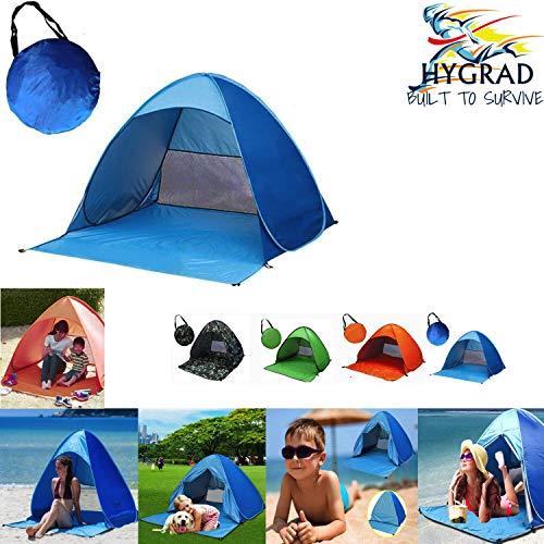 G4RCE Pop Up Portable Beach Canopy Sun Shade Shelter Outdoor Garden Camping Fishing Tent Mesh UK (Orange)