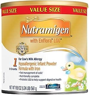 Nutramigen with Enflora LGG Baby Formula - 19.8 oz Powder Can (Pack of 4) by Nutramigen