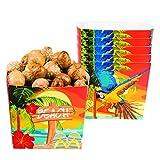 Amakando Bandejita de Piscolabis Fiesta de Verano - 40 Cl | Bandeja de Aperitivos Fiesta en Playa | Vajilla Desechable Fiesta de Caribe | Cuenco para Tentempié Fiesta Temática Hawái