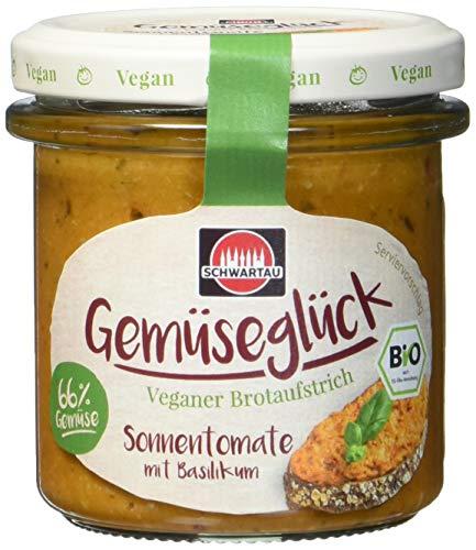 Schwartau Gemüseglück Sonnentomate mit Basilikum, veganer Brotaufstrich, BIO, 6er Pack (6 x 135g)
