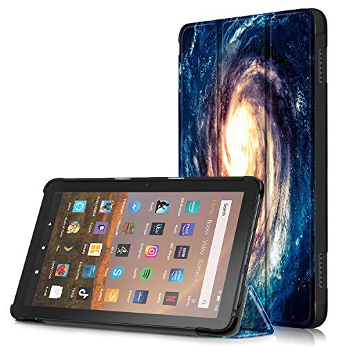 Anvas Schutzhülle für Kindle Fire HD 8 Tablet und Fire HD 8 Plus Tablet (10. Generation, 2020 Release), leicht, automatische Sleep-/Wake-Funktion mehrfarbig K-Blau Galaxie