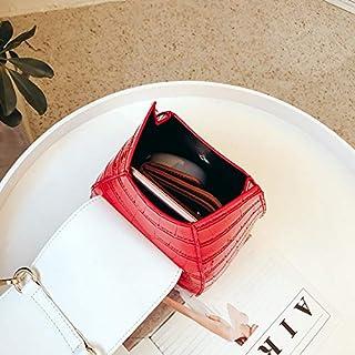 Leather New Women's Shoulder Wallet Girl Wild Wallet Small Wallet Handbag Shoulder Wallet Messenger Wallet Waterproof (Color : Red, Size : S)