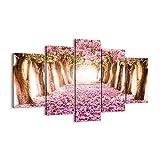 Cuadro sobre lienzo - Impresión de Imagen - Árbol flores cereza naturaleza - 150x100cm - Imagen Impresión - Cuadros Decoracion - Impresión en lienzo - Cuadros Modernos - EA150x100-2794