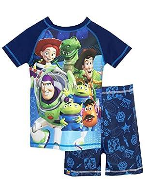 Disney Boys' Toy Story Two Piece Swim Set Size 7 Blue
