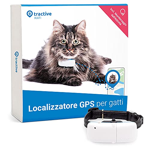 Tractive GPS Cat Tracker (2021). Seguilo ovunque. Localizzazione 24/7 e Cronologia di 365 giorni