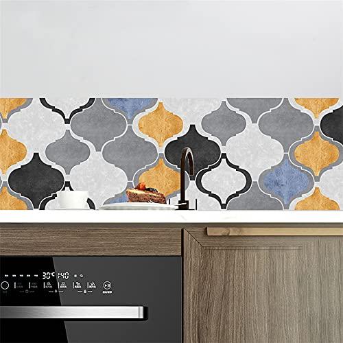 vinilos pared,10 piezas de pegatinas de pared de arco, pegatinas de baldosas de viento de cemento, pegatinas de suelo antideslizantes para sala de estar y cocina