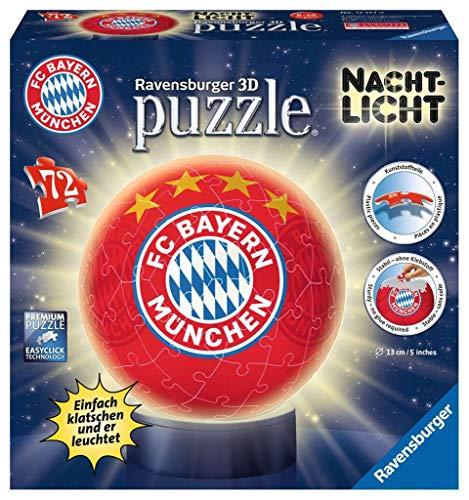 Ravensburger 3D Puzzle 12177 - Nachtlicht - FC Bayern München - 72 Teile