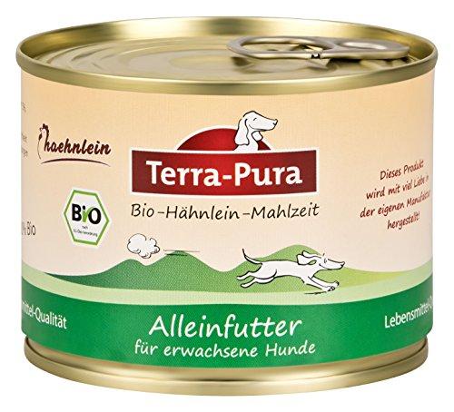 Terra Pura Bio-Hundenassfutter Hähnlein, 24er Pack (24 x 200 g)