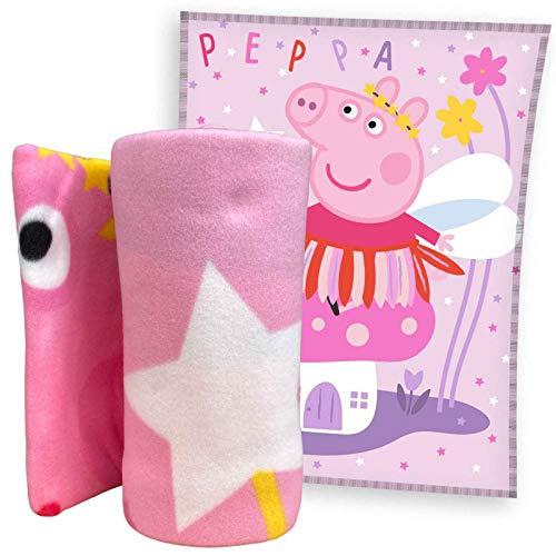 Peppa Pig Manta polar de 150 x 200 cm, 100% poliéster.