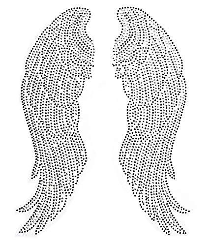 EMDOMO - Alas ángel Grandes Planchar Diamantes imitación