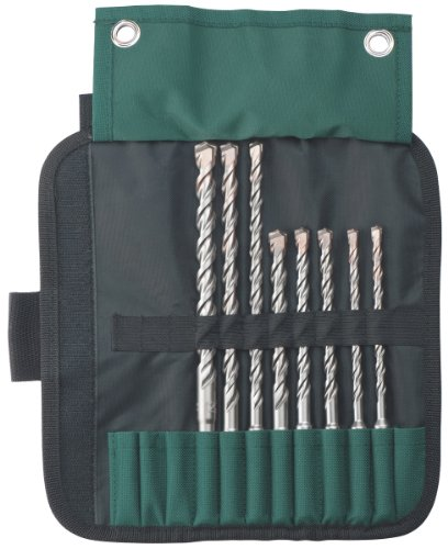 Metabo 631715000 SDS-Plus Pro 4 Drill bit Set 8-Piece, Green