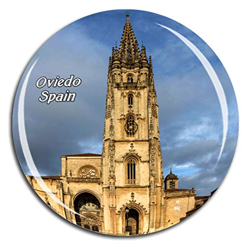 Weekino España San Salvador Catedral Oviedo Imán de Nevera 3D de Cristal de Turismo de la Ciudad de Viaje Recuerdo de la Colección de Regalo Fuerte Etiqueta Engomada del refrigerador