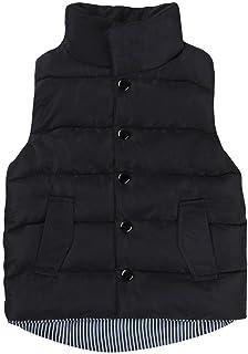 vanpower Men's Winter Down Cotton Vest Sleeveless Button Vest Tops One Size Multicoloured