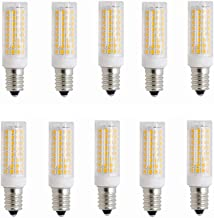 LED Lamp 10pcs,E14 LED Bulb Candelabra Light Bulbs 5W 102LED 2835SMD 50 Watt Equivalent 3000K/6000K Decorative Candle Base...