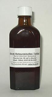 Asvet 100ml Rotwurzelsalbei Tinktur, Tropfen, Salvia miltiorrhiza Konzentrat ohne Chemie, handgemacht, 100% vegan und natürlich !