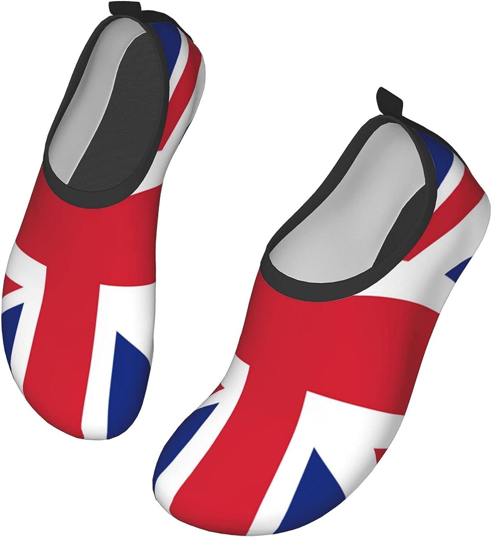 DIAFILM Water Shoes British Flag Quick-Dry Aqua Socks Barefoot S