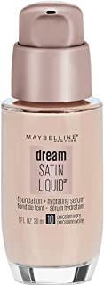 Maybelline New York Dream Satin Liquid Foundation (Dream Liquid Mousse Foundation), Porcelain Ivory, 1 fl. oz.