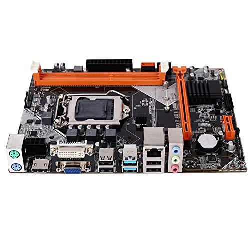 Fauge Placa Base B75 M-ATX Placa Base de Computadora M.2 LGA1155 Soporte 2 X 8G DDR3 de Doble Canal para CPU I3 I5 I7