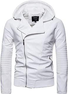 Men fold Leather Autumn&Winter Jacket Biker Motorcycle Zipper Outwear Warm Coat