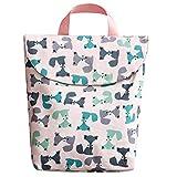Yudanny 1 tragbare Baby-Windeltasche für Reisen, wasserfest, mit Griff, Pink Bär/S