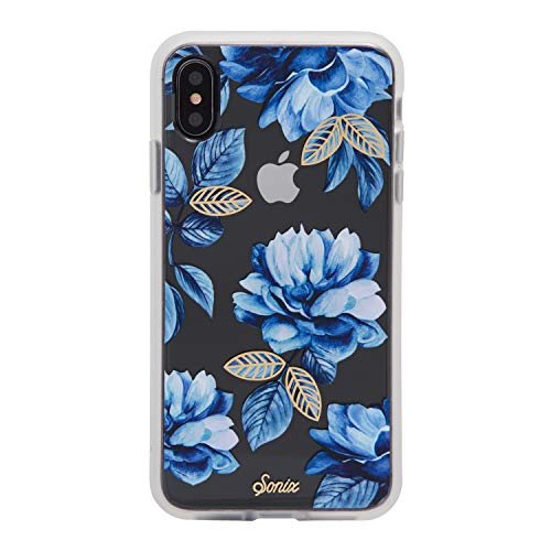 Sonix Indigo Case for iPhone Xs Max [Military Drop Test Certified] Women's Blue Flower Floral Protective Clear Case Series for Apple iPhone Xs MAX