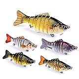 5 Señuelos De Pesca Para La Tolva, Cebos De Pesca De Pike De Wobblers, Secciones Artificiales De Múltiples Articulaciones, Cebo Rígido Artificial, Carpa De Pike De Trolling, Herramientas De Pesca