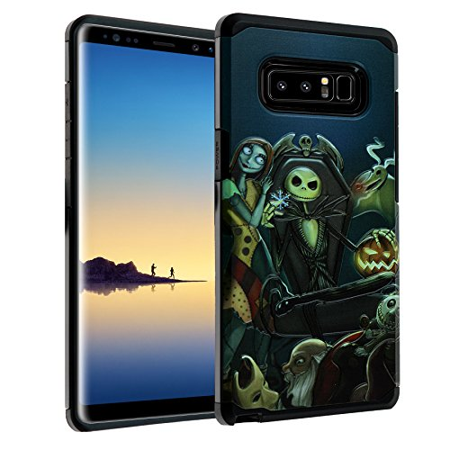 Galaxy Note 8 The Nightmare Before Christmas Case, IMAGITOUCH 2-Piece Style Armor Case with Flexible Shock Absorption Case and The Nightmare Before Christmas Cover for Galaxy Note 8 – Nightmare