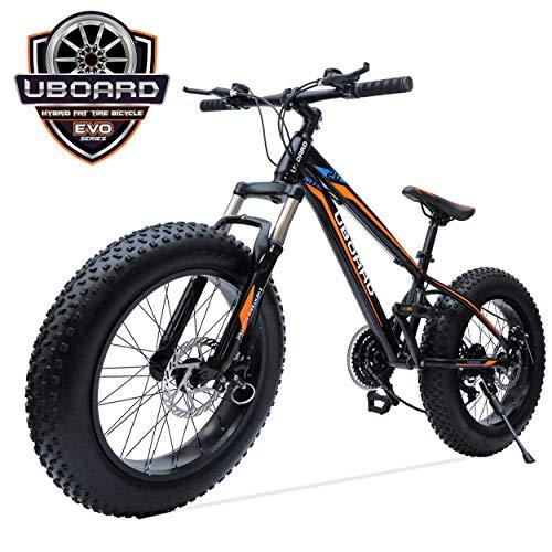 UBOARD 20inch Fat TIRE Bike | 21 Speed | Authentic Shimano Gear Set