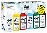Kreul 42847 - Window Color Aktionsset, für kleine und große Kreative, 5 x 80 ml Fenstermalfarbe in...