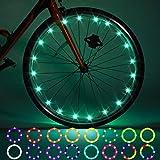 Paquete de 2 luces LED para rueda de bicicleta, control remoto para neumáticos de bicicleta, cambia de color por ti mismo, impermeable, súper brillante para montar en la noche para niños
