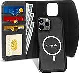 FYY Etui Coque iPhone 12/iPhone 12 Pro, Étui Portefeuille Magnétique Amovible 2 en 1 [Prend en Charge la Charge sans Fil] avec Étui Folio à Cartes pour Apple iPhone 12/12 Pro 6.1' 2020 Noir