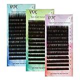 VOE Dark Brown Eyelash Extensions 0.07 D curl Volume Silk Lashes (11MM)
