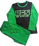 Nubee Fashion Secrets Eat Sleep Mine, leuchtet im Dunkeln, langer Schlafanzug für Jungen und Mädchen, 7–12 Jahre Gr. 7-8 Jahre, grün