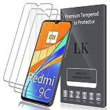 LK Compatible con Xiaomi Redmi 9C Protector de Pantalla,3 Pack,9H Dureza Cristal Templado, Vidrio Templado Screen Protector, X-1