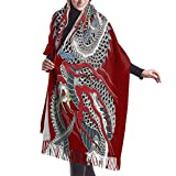 Bufanda de mantón, Yakuza Dragon Tattoo Cashmere Scarf Super Soft Shawls And Wraps Warm For Men And Women