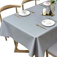 拭き取り可能なテーブルクロスPVCのプラスチック拭き洗浄の防水ビニールのテーブルカバープロテクターのための台所ピクニック屋外屋内 (Color : Light Grey, Size : 137x275 cm)