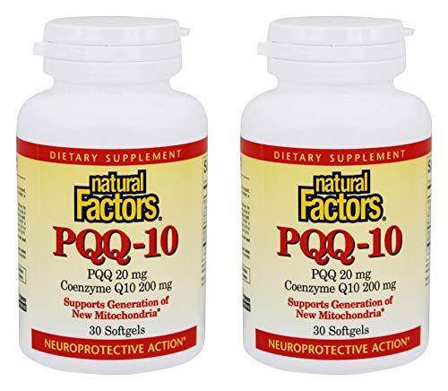 自然因素PQQ-10 10mg,30柔软凝胶2包装(总凝胶60个)