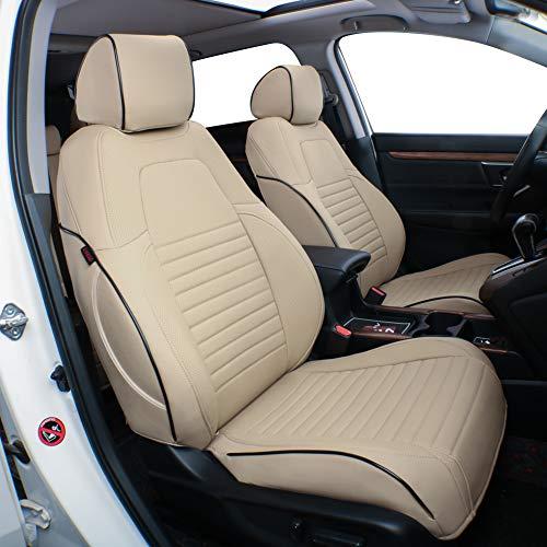 EKR Custom Fit Full Set Car Seat Covers for Select Honda CRV 2017 2018 2019 2020- Leatherette (Beige) Alabama