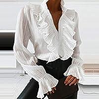 XLEVE スタイルの女性長袖ホワイトプリントシャツ絵画プラスサイズストレートレディカジュアルミディドレスルーズローブ (Size : Large)