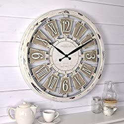 FirsTime & Co. Antique Plaques Wall Clock, 20, White